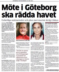 20130624 - GP - Möte i Göteborg ska rädda havet