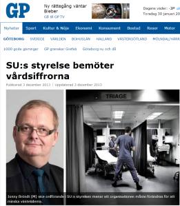 20131203 SUs styrelse bemöter vårdsiffrorna