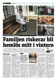 20150107 Familjen riskerar bli hemlös mitt i vintern