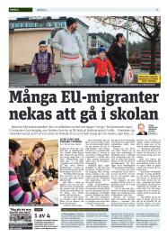 20150107 Många EU-migranter nekas att gå i skolan